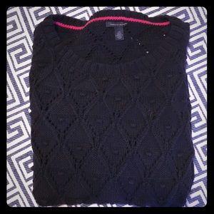 Navy cotton sweater sz L